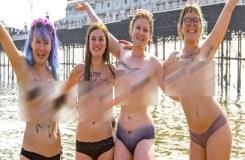 सोशल मीडिया पर स्तन पर बैन,'टापलेस' होकर मार्च निकाला