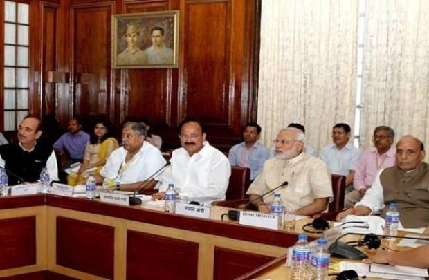 all party meeting,  monsoon session,  parliament, kashmir, arunachal,  gst bill