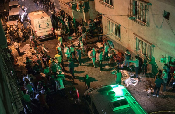 At least 30 killed in Turkey wedding attack near Syria border
