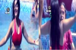 ओमजी महाराज ने किया अभिनेत्री संग स्विमिंग पूल में डांस !