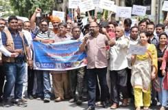 उत्तर प्रदेश में क्यों सड़को पर उतरे पत्रकार, निकाला मार्च