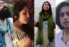 भारत-पाक कलाकारों ने मिलकर गाया 'राष्ट्रगान', वीडियो हुआ वायरल