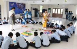 विद्या कुंज में बच्चों ने लिया थ्री डी रंगोली का प्रशिक्षण