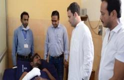 NTPC हादसाः मृतको के परिजनों से मिले राहुल