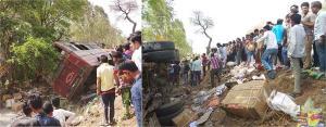 मंदसौर में यात्री बस पलटी, 8 लोगों की मौत, मृतकों के परिजनों को 2-2 लाख की सहायता