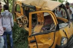 UP : रेलवे क्रॉसिंग पर ट्रेन-स्कूल वैन की टक्कर, 13 की मौत