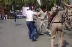 AMU में जिन्ना : SP से धक्का-मुक्की, लाठीचार्ज में 15 छात्र घायल