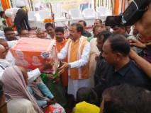 उप मुख्यमंत्री केशव प्रसाद मौर्य ने किया बाढ़ पीड़ितों को राहत सामग्री वितरित