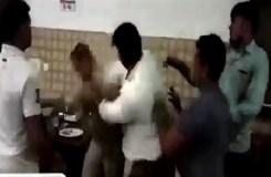 भाजपा नेता ने दरोगा को जमकर पीटा, वीडियो वायरल