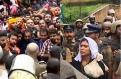 सबरीमाला मंदिर विवाद : महिलाओ को नहीं मिल सका प्रवेश, पुलिस पीछे हटी
