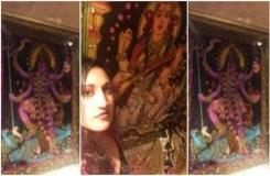 बाथरूम की दीवारों पर दिखीं हिंदू देवी-देवताओं की तस्वीरें, मचा बवाल