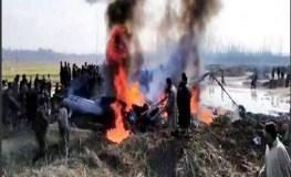 जम्मू कश्मीर : वायुसेना का लड़ाकू विमान क्रैश, दोनों पायलट शहीद