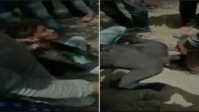 युवक को पीटा फिर जबरन जूतों पर रगड़वाई नाक, विडियो हुआ वायरल