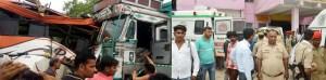 दर्दनाक हादसा : ट्रक व बस की सीधी भिड़ंत में सात यात्रियों की मौत