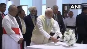 पीएम मोदी पहुंचे श्रीलंका, ईस्टर धमाके में मारे गए लोगों को दी श्रद्धांजलि