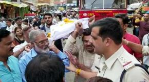 बौखलाई भाजपा ने मुख्यमंत्री कमलनाथ की शव यात्रा निकाली