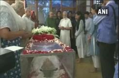 अंतिम दर्शन के लिए शीला दीक्षित के घर पहुंचे सोनिया गांधी और पीएम मोदी, श्रद्धांजलि दी