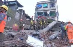 महाराष्ट्र : भिवंडी में 4 मंजिला इमारत गिरी, दो लोगों की मौत