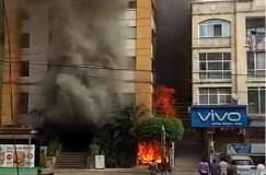 इंदौर के होटल में लगी भीषण आग, करोड़ों रुपए का नुकसान