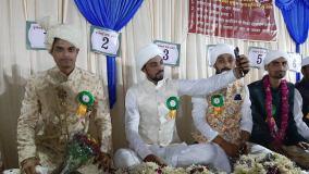 खंडवा: मुस्लिम तेली बिरादरी के 83 जोड़ों का हुआ निकाह