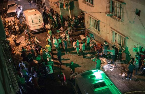 At least 30 killed in Turkey wedding attack near Syria border