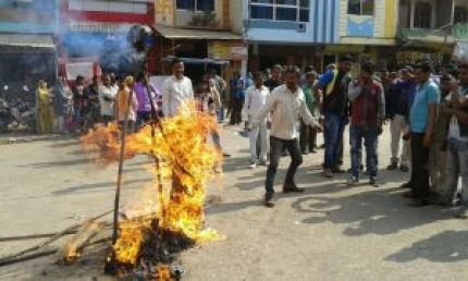 congress-workers-congress-district-president-burned-effigy