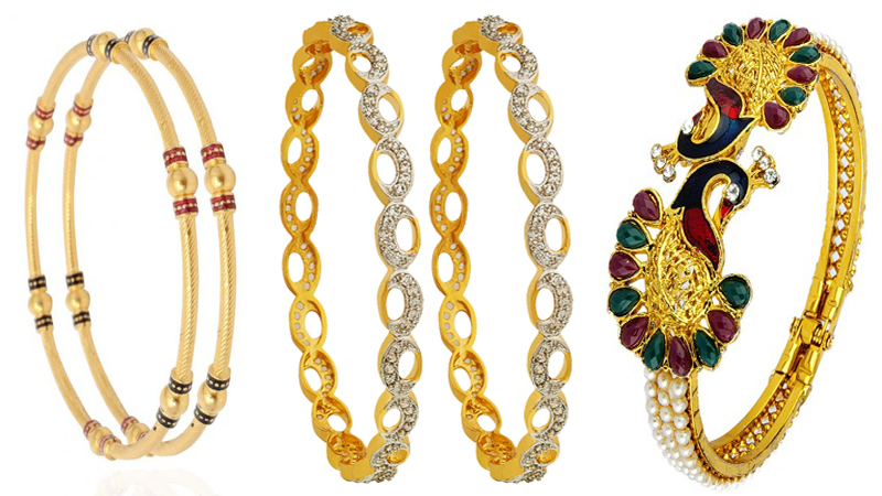 Make your hands look stylish by this latest design of gold bangles