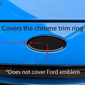 Overlays for Outer Chrome Emblem Rings 2015-2018 Ford Focus