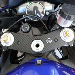 Carbon Fiber Triple Clamp Decal- 2006-2016 Yamaha R6