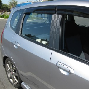 Carbon Fiber Door Pillar Overlays 2007-2008 Honda Fit GD3