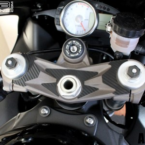 Carbon Fiber Triple Clamp Decal 07-08 Kawasaki ZX-6R ZX6R 600