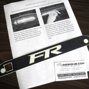Third Brake Light Decal- 2000-2007 Ford Focus ZX3 / ZX5 / SVT