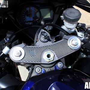 Carbon Fiber Triple Clamp Decal 05-06 Suzuki GSXR 1000 GSXR1000