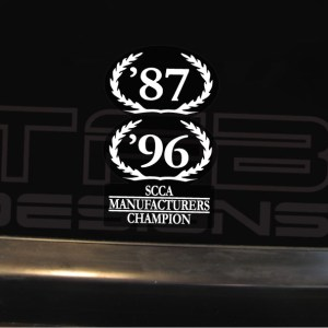 SCCA Manufacturers Championship Wreath Decal fits Ford Mustang Saleen