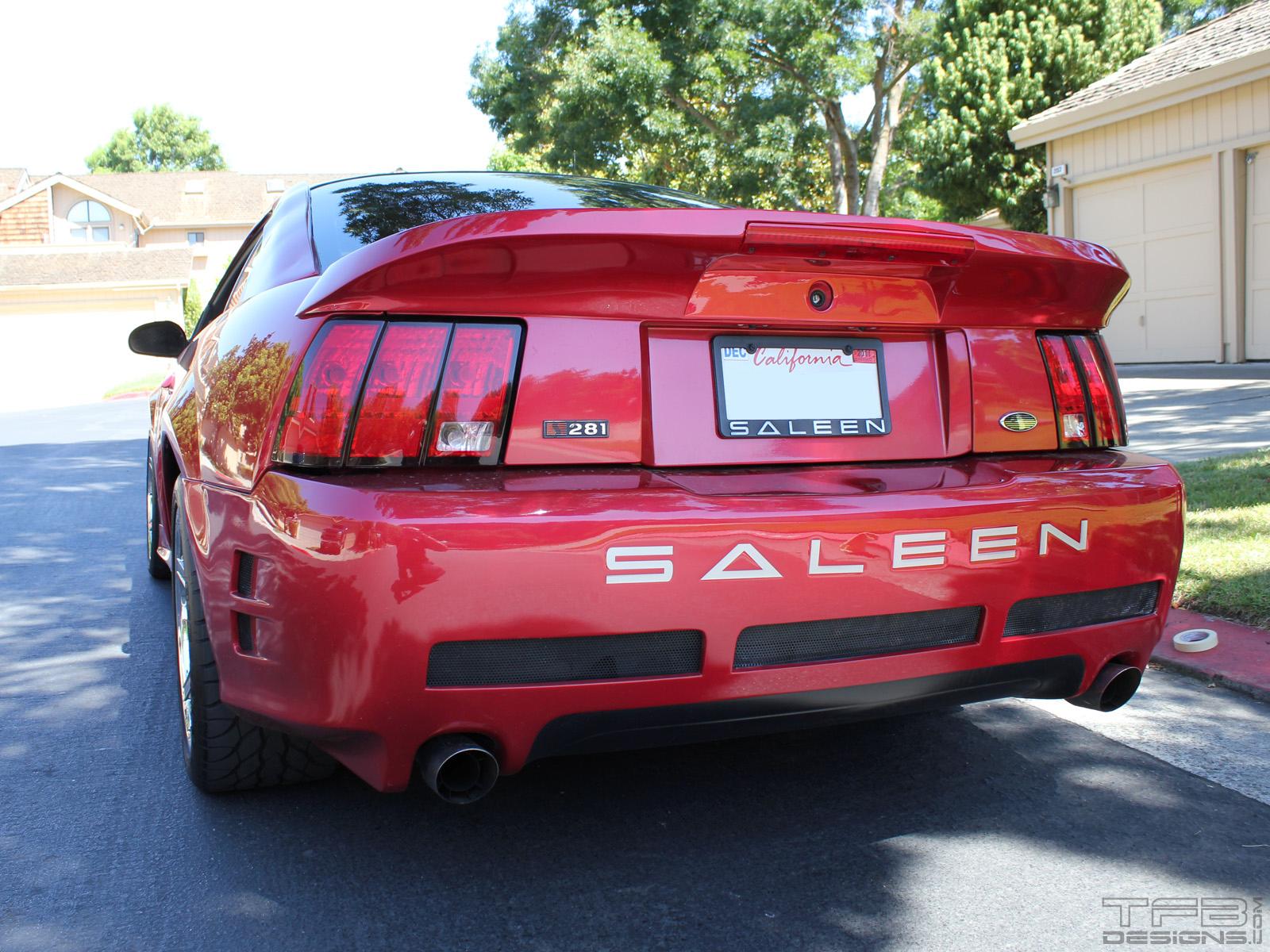 Saleen Rear Bumper Lettering 1999 2009 Ford Mustang Tfb