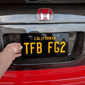 Custom Black and Yellow Replica California License Plate