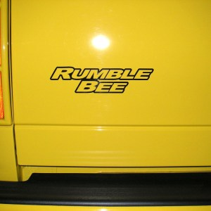 Hood Scoop / Tail Gate Decals- 2004-2005 Dodge Rumble Bee