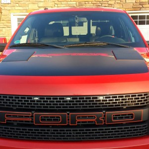 Hood Decal for the 2010 – 2014 Ford Raptor SVT – OEM Style