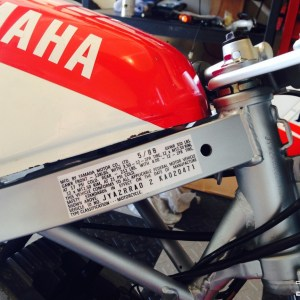 Replacement VIN Number Decal – 1987-1992 Yamaha YSR50 YSR 50