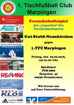 Freundschaftsspiel auswärts bei Gut Stubb Neunkirchen @ TUS 1860 Halle | Neunkirchen | Saarland | Deutschland