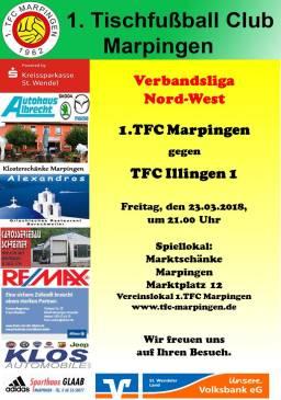 Verbandsliga Nord-West: 1.TFC Marpingen - TFC Illingen 1 @ Vereinslokal Marktschänke | Marpingen | Saarland | Deutschland