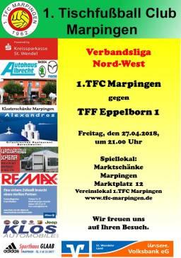 Verbandsliga Nord-West: 1.TFC Marpingen - TFF Eppelborn @ Vereinslokal Marktschänke   Marpingen   Saarland   Deutschland