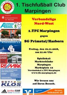 Verbandsliga Nord-West: 1.TFC Marpingen - SG Primstal/Hasborn @ Vereinslokal Marktschänke | Marpingen | Saarland | Deutschland