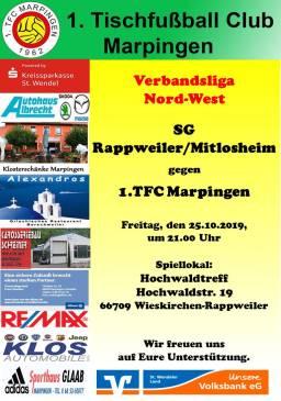 VL NW: SG Rappweiler/Mitlosheim 1 - 1.TFC Marpingen @ Hochwaldtreff