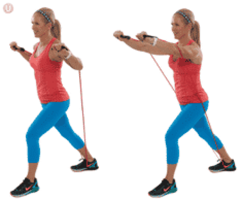 Resistance band chest fly Chest Exercises Without Weights