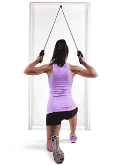 Resistance band lat pull downs