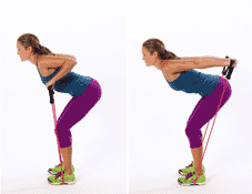 Resistance band tricep extension