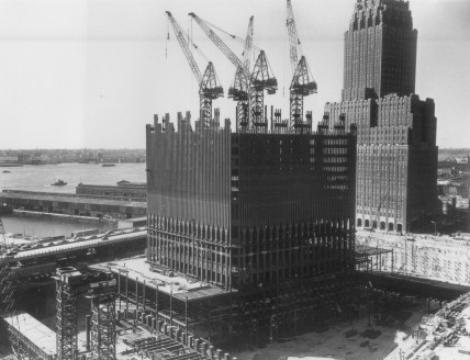 Early construction on the World Trade Center