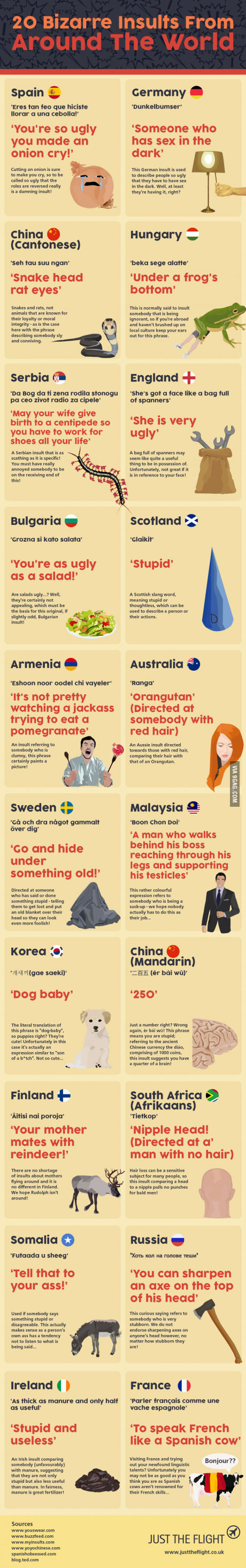 20 Bizarre insults around the world