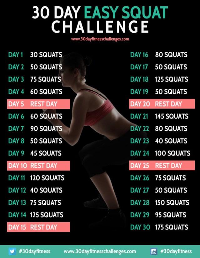 30 Day Easy Squat Challenge
